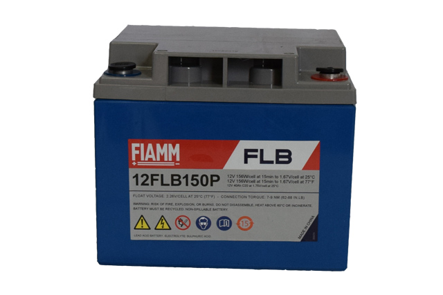 fiamm 12flb150 12v 40ah vrla battery. Black Bedroom Furniture Sets. Home Design Ideas