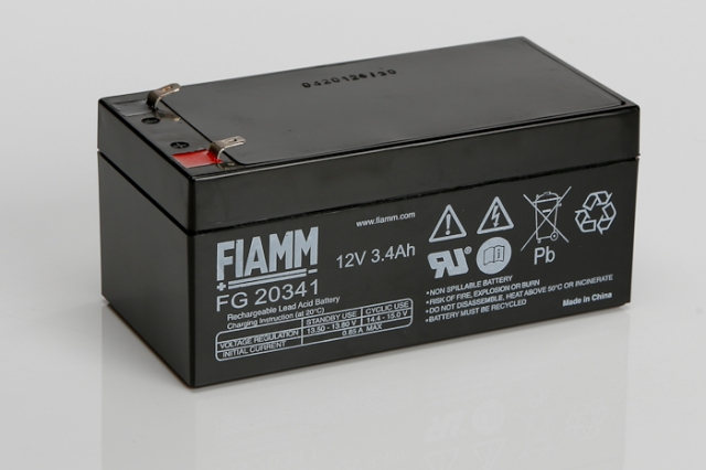 fiamm fg20341 12v 3 4ah sealed lead acid battery. Black Bedroom Furniture Sets. Home Design Ideas